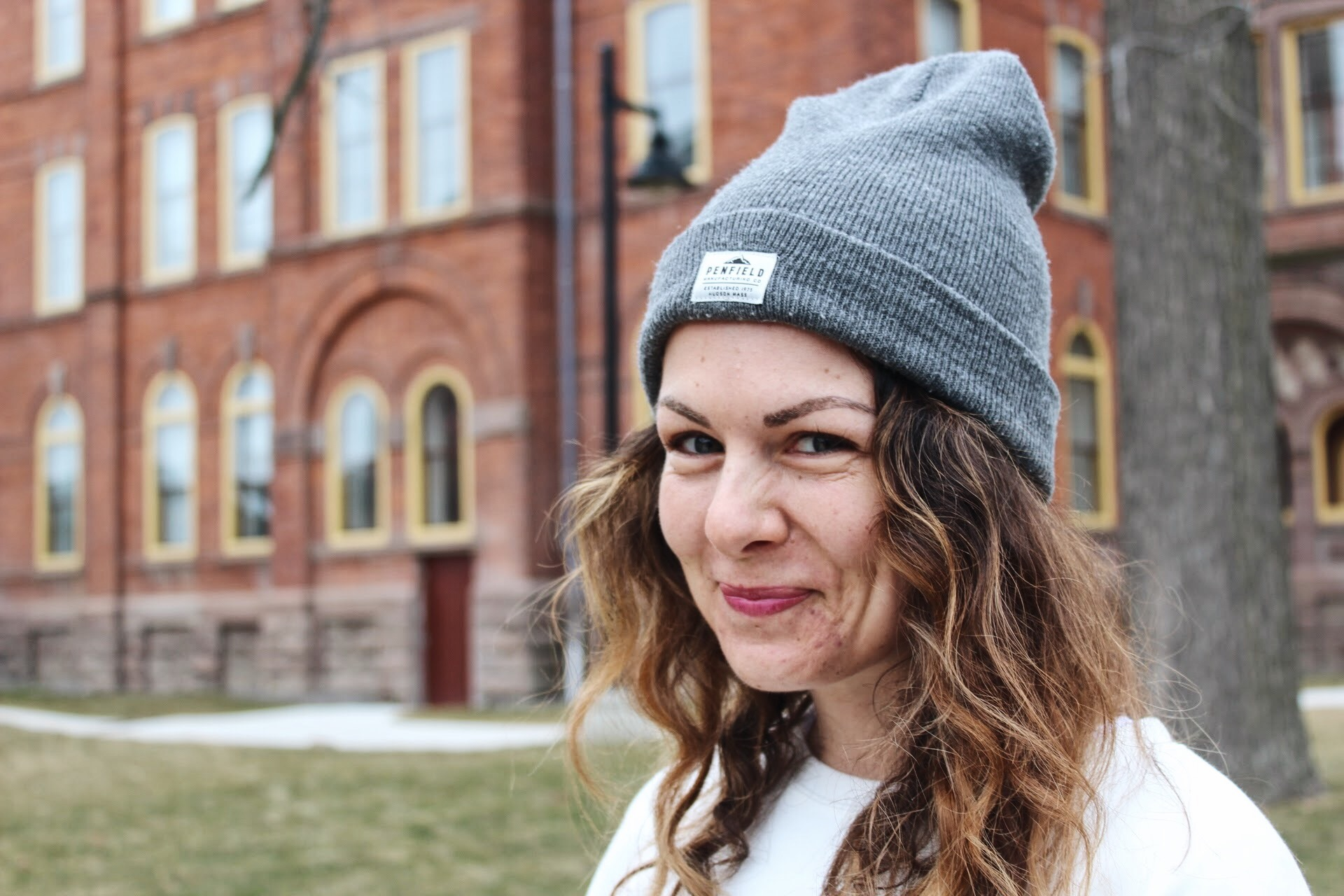 campus street style, fashion humber, fashion students, Penfield beanie hat, Meaghan Dorion