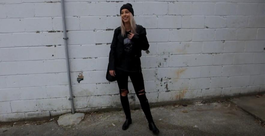 black ripped denim, fashion Humber, how to style, Hannah MacDonald, fashion Student, fashion blogger, fashion toronto, style tips,