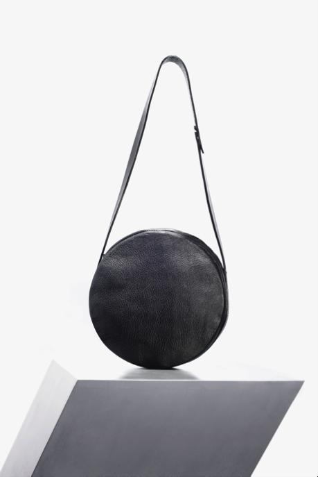 Sonya Lee, Queen West Toronto, handmade handbags, Leather handbags, Black Round handbag,