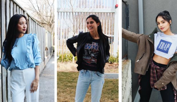 FashionHumber, campus street style, Nicole, Ani, Jasleen, fashion students, Humber College, 2017