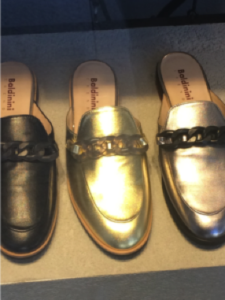 FashionHumber, Professor Julie Saville, Lineapelle, Milan, colour leather, leather shoes, flats, leather shoes with hardware